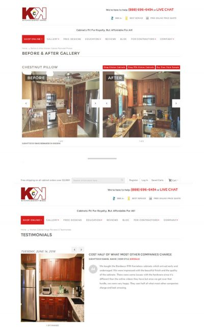 Kitchen Cabinet Kings Magento Before & After Gallery