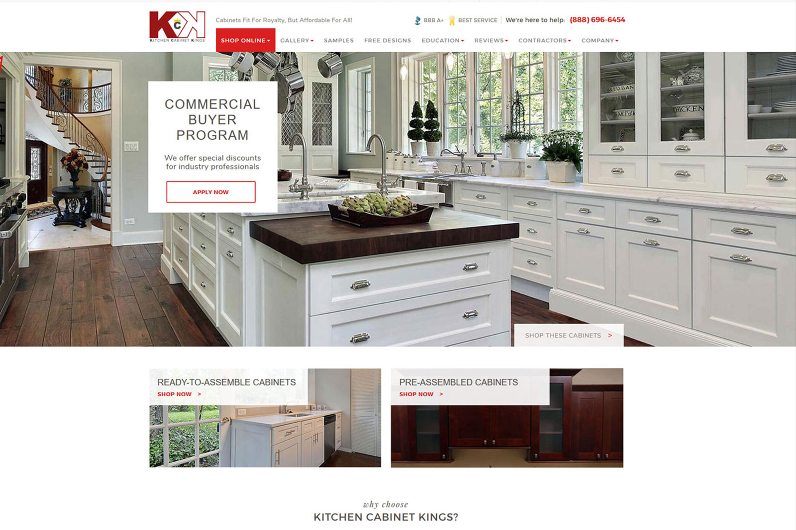 Kitchen Website Design Adorable Ecommerce Website  Kitchen Cabinet Kings  Clemson Web Design Inspiration Design
