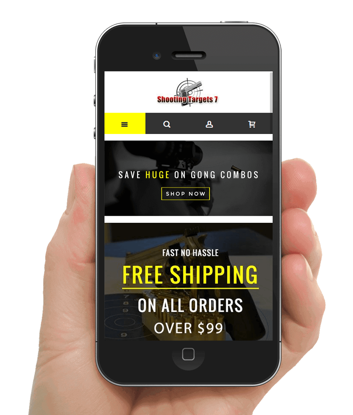 Magento eCommerce Mobile Website