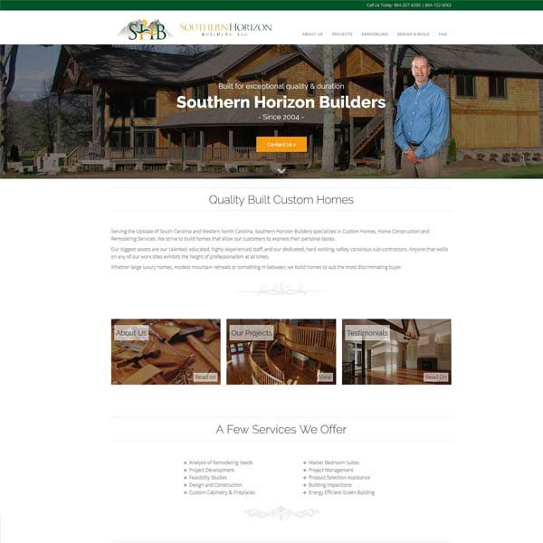 Seneca SC Builder Web Design