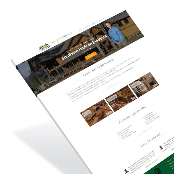 Contractor Home Builder Web Design