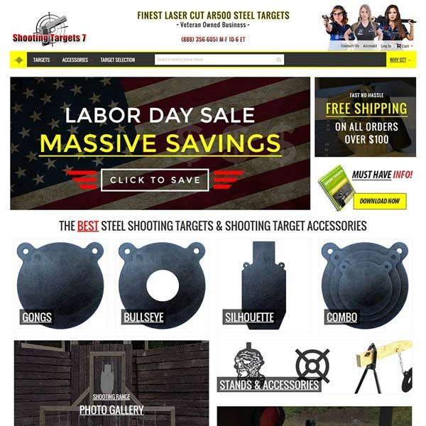 Shooting Targets SC eCommerce Web Design
