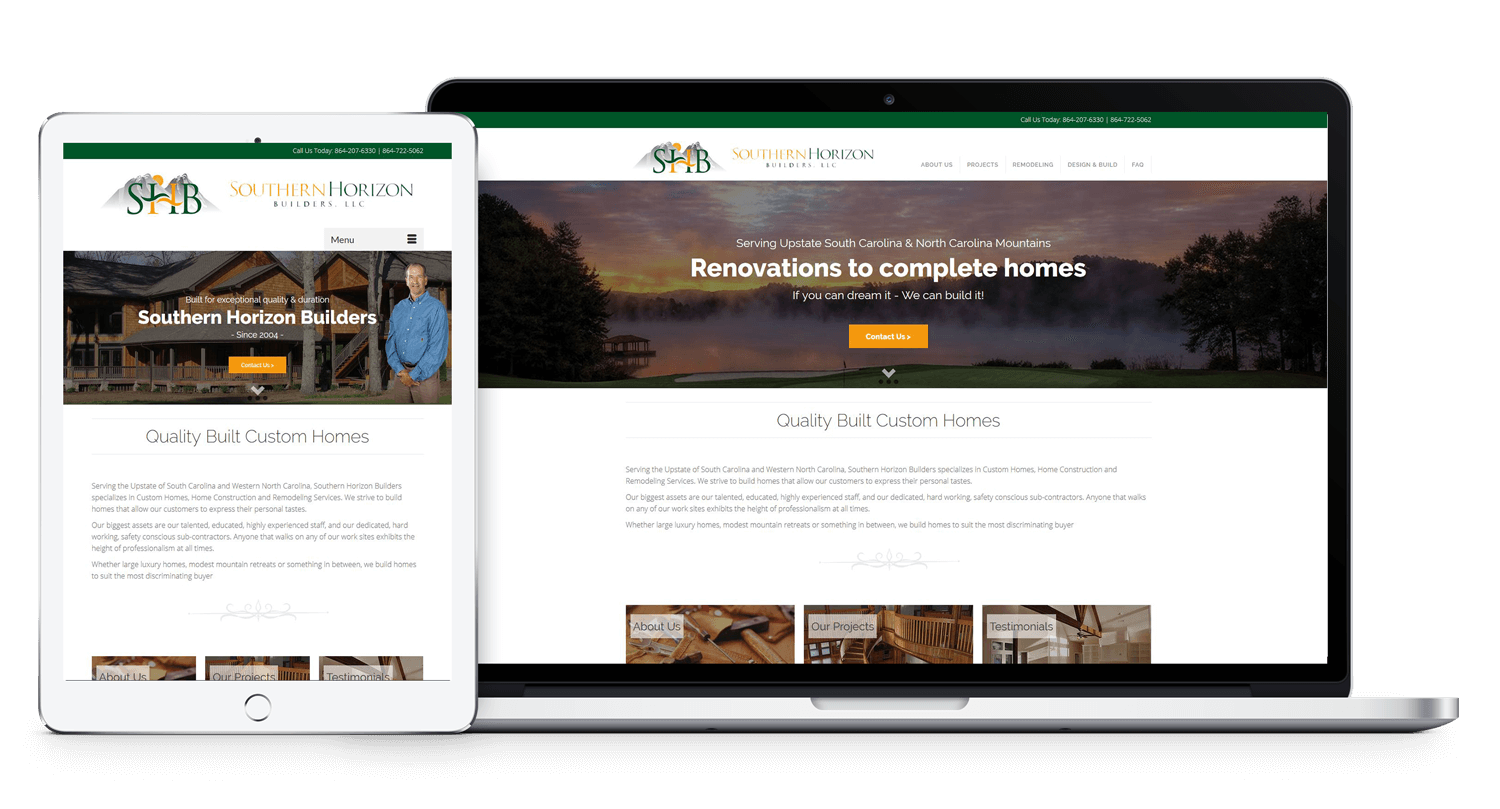Wordpress Contractor Realtor Web Design | Clemson Website Design
