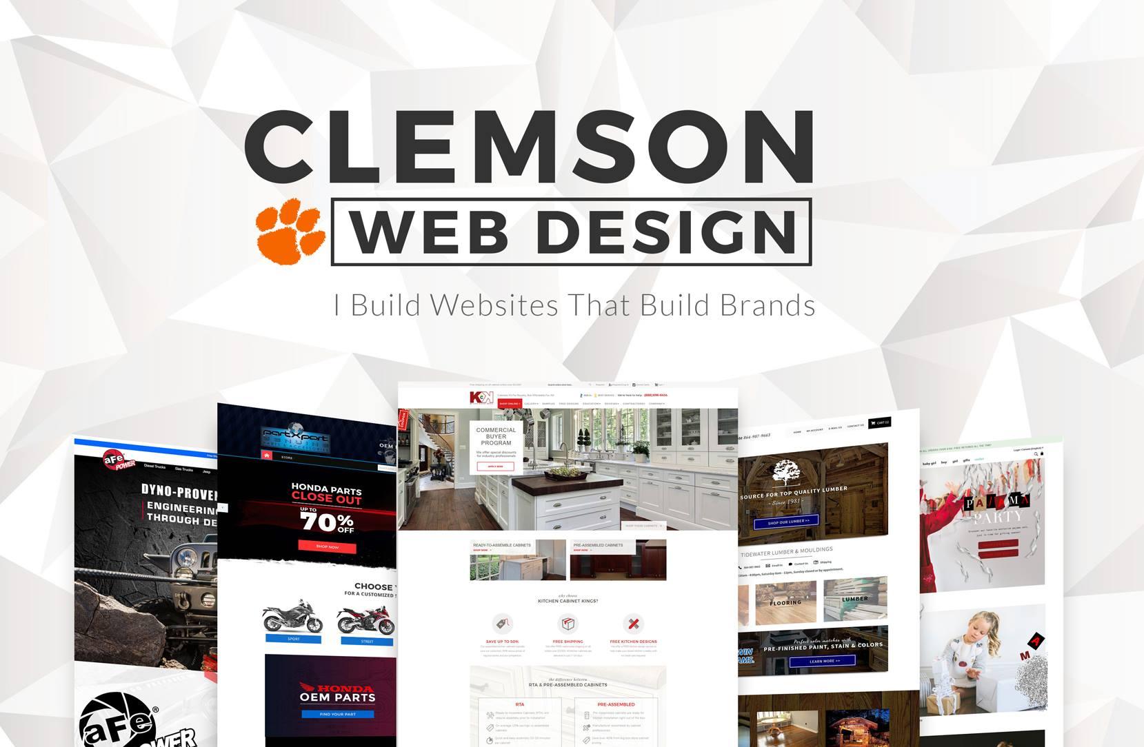 Greenville Clemson Anderson Web Designer