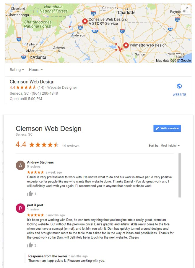 Local SEO South Carolina Business Reviews