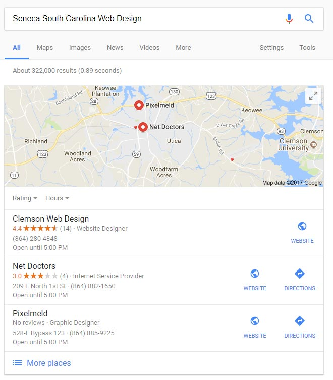 Clemson SC Local Business SEO