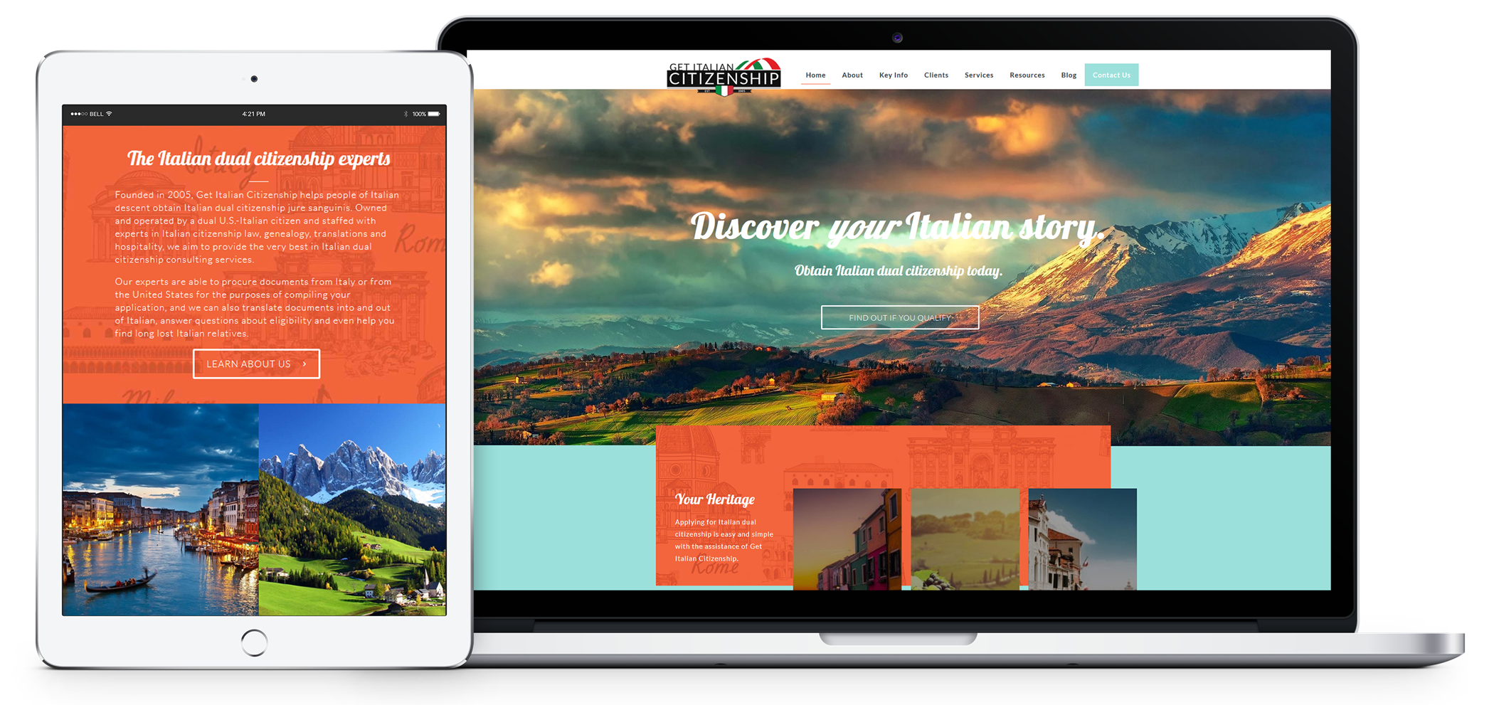 Italian Web Design in Greenville Anderson Clemson SC
