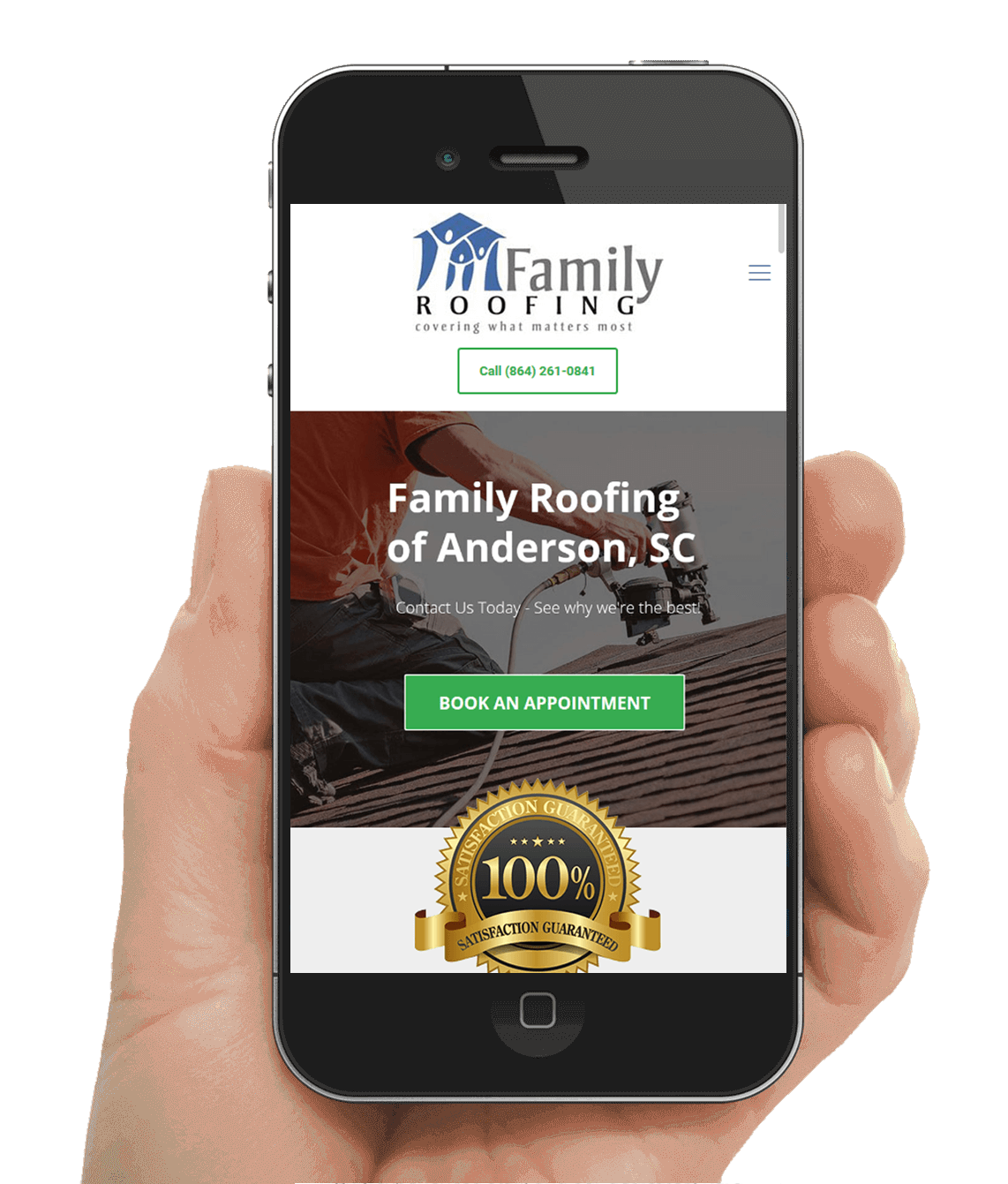 Anderson SC Roofing Contractor Website