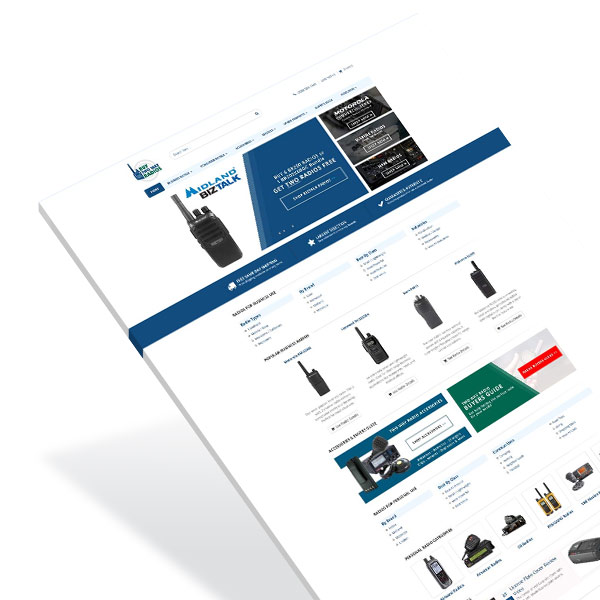 eCommerce Web Design TwoWayRadios