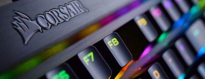 Clemson Web Deisgn Corsair Keyboard