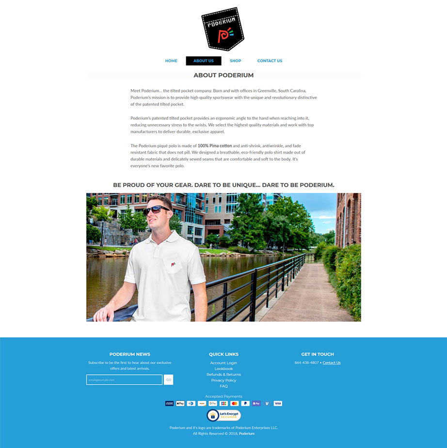 Greenville SC Shopify Page