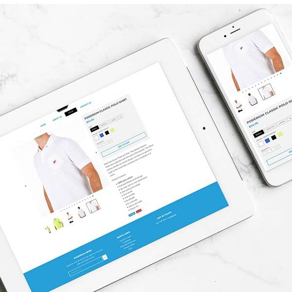 Poderium Shopify Website Overlay